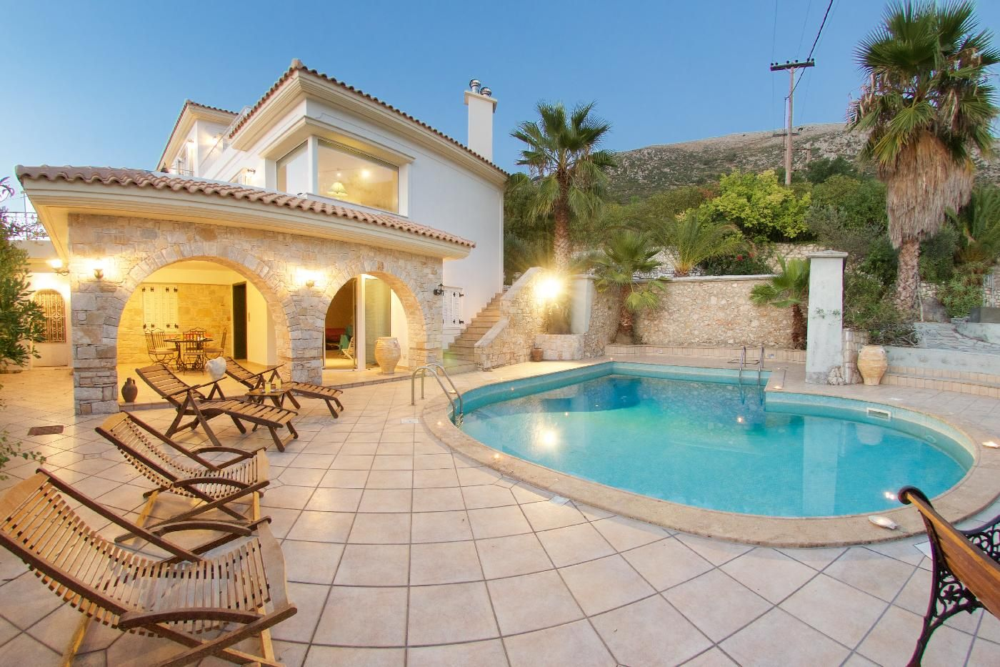 luxury villa with swinning pool